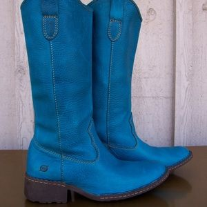 Born shavano turquoise western Leather boots